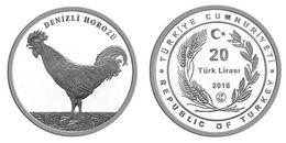 AC - DENIZLI ROOSTER, COCKOREL, COCK MALE GALLINACEOUS BIRD, MALE CHICKEN GALLUS GALLUS DOMESTICUS  COMM SILVER 2018 - Turquia