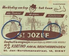 DIEST  : St JOZEF ( Confectie Magazijn Neerpelt ) - Buvards, Protège-cahiers Illustrés