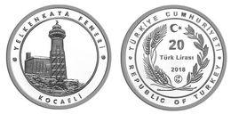 AC - YELKENKAYA LIGHT HOUSE, LIGHTHOUSE LIGHT HOUSE SERIES No: 8 COMM SILVER COIN PROOF UNC DARICA, KOCAELI TURKEY, 2018 - Turquia