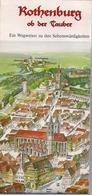 ROTHENBURG Ob Der Tauber - EIN WEGWEISER ZU DEN SCHENSWURDIGKEITEN - Karte - Maps