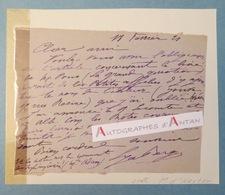 L.A.S 1921 Lya BERGER - Femme De Lettres écrivain Née à CHATEAUROUX - à M. D'Hartoy - Lettre Autographe LAS - Autografi