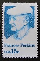 HOMMAGE A FRANCES PERKINS 1980 - NEUF ** - YT 1280 - MI 1427 - Estados Unidos