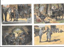 10792 - Lot De 5 CPA Millitaria, Illustrateur GABARD - Guerre 1914-18