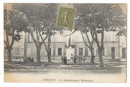 Cpa: 13 AUBAGNE (ar. Marseille) La Gendarmerie Nationale (animée) - Aubagne