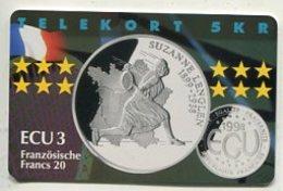 TK34030 DENMARK - Chip P285 France - Suzanne Lenglen 600 Ex. MINT ! - Denmark
