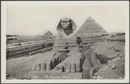 The Excavated Sphinx, Cairo, C.1930s - Ernst Landrock RP Postcard - Gizeh