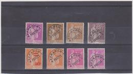 FRANCE    1922-47 Préoblitéré  Type Paix  Y.T. N° 69  à  77  Incomplet  Oblitéré - Préoblitérés