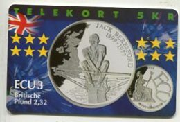 TK34031 DENMARK - Chip P282 Great Britain - Jack Beresford 600 Ex. MINT ! - Denmark