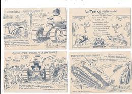 10793 - Lot De 8 CPA Millitaria, Série Halte Là (dont 3 Identiques) - War 1914-18
