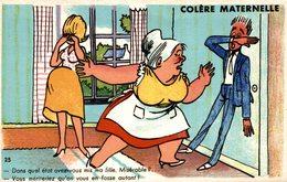 CPA HUMOUR COLERE MATERNELLE - Humour
