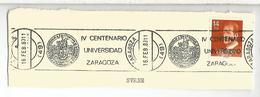 ZARAGOZA FRAGMENTO CON MAT RODILLO IV CENTENARIO UNIVERSIDAD UNIVERSITY - 1931-Hoy: 2ª República - ... Juan Carlos I
