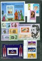 Grenada Grenadines Christmas 3 Singles Bell Set Silver Jubilee Set Souvenir Sheet Block MNH WYSIWYG 1976-1977 A04s - Grenada (1974-...)