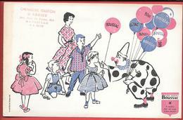 Buvard Ancien Textile : TISSU BOUSSAC - CHEMISERIE GASTON -J.ABRIEU à MARSEILLE -clown,ballons Enfants DOMERGUE à ROMANS - Textilos & Vestidos