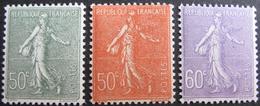 FD/2051 - 1924 - TYPE SEMEUSE - N°199 NEUF** + N°198 (BON CENTRAGE) Et 200 NEUFS* - Cote : 17,20 € - France