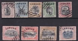 Malaysia-Labuan Scott 72-82 1897 Definitives, Used - Malaysia (1964-...)
