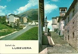 Lusevera (Udine, Friuli V. Giulia) Scorcio Panoramico E Chiesa, Panoramic View And Church - Udine