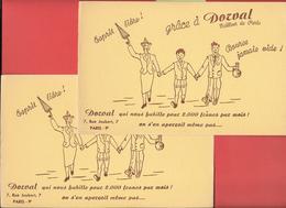 2 Buvards Anciens Textile : DORVAL -TAILLEUR DE PARIS Buvard Illustré DORVAL Habille Pour 2000 Francs Par Mois.... - Textilos & Vestidos