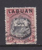 Malaysia-Labuan Scott 78 1897 Definitives, 6c Brown Red And Black, Used - North Borneo (...-1963)