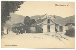 88-REMIREMONT-Tramway Pour Gérardmer, La Gare... Animé - Remiremont