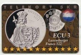 TK34044 DENMARK - Chip P294 Luxembourg 600 Ex. MINT ! - Denmark