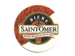 Sous-bock Bierdeckel Beer Mat Brasserie Bière St Saint Omer Maître Brasseur Depuis 1866 A. Pecqueur French Bier Brewery - Bierdeckel