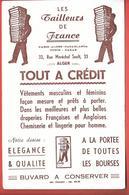 Buvard Ancien Textile : Très Rare - LES TAILLEURS DE FRANCE à ALGER -PARIS CASABLANCA TUNIS DAKAR - Illustré-imp DURANDO - Textile & Clothing