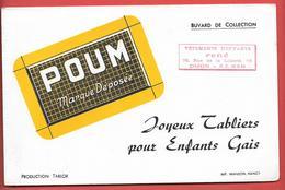 """Buvard Ancien Textile :  POUM - VETEMENTS D'ENFANTS """"RENE"""" à DIJON -   Production TABLOR - Imp.WANSON NANCY - Textilos & Vestidos"""