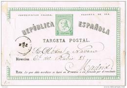 28809. Entero Postal LORCA (Murcia) 1875 , Num 6 Tarjeta De Ida - 1850-1931