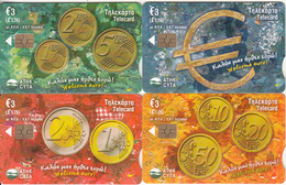 CYPRUS(chip) - Set Of 4 Cards, Welcome Euro(puzzle), Tirage 1500, 11/07, Mint - Cyprus