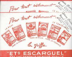 2 Buvards Anciens Textile : Ets ESCARGUEL Galeries Parisiennes RAOUL COLOMB à DIGNE (SIOUX FLIBUSTE SOL GAULOIS ROLLO... - Textilos & Vestidos