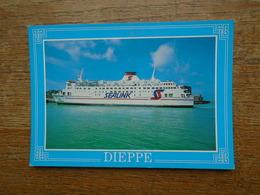 """Dieppe , """" Bateau """" , Car-ferry """" Champs élysées """" Sealink - Dieppe"""