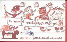 Buvard Ancien Textile : COMPAGNIE SINGER à ANGOULEME - Machines à Coudre  Partout Dans Le Monde Entier - Textilos & Vestidos