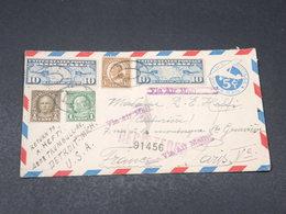 ETATS UNIS - Entier Postal + Complément De Détroit En Recommandé Pour La France En 1929 - L 18055 - 1921-40