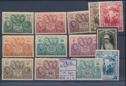 BELGIAN CONGO BOX1  COB 184/196 MNH - Belgisch-Kongo