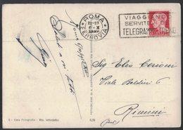 AM92   STORIA POSTALE REGNO 1938 - ANNULLO A TARGHETTA TELEGRAMMI TRENO SU IMPERIALE 20c - 1900-44 Vittorio Emanuele III