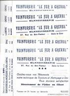 """10 Buvards Anciens Identiques - TEINTURERIE """"LE FER A CHEVAL""""  MARSEILLE-GILBERTE BALLESTRA à BARJOLS (Var) Avec Coupons - Textilos & Vestidos"""