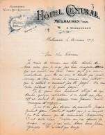1917 - MÜLHAUSEN - HÔTEL CENTRAL - A. WIESBERGER - - Documenti Storici