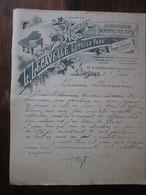Ancienne Facture En-tête 1915 - L Lecavelle Luthier - Pianos Instruments -  Béziers (34 Hérault) - Francia