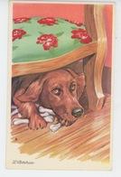 "CHIENS - DOG - Jolie Carte Fantaisie Portrait Chien Et Os ""L'AVARICE "" - Photochrom 339 - Chiens"