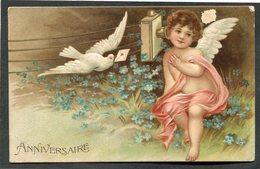CPA - Illustration - Ange - Heureux Anniversaire - Carte En Relief - Angels