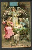 CPA - Illustration - Anges - Buon Natale - Carte En Relief - Angels