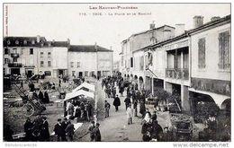 D65 - Htes PYRENEES < TRIE SUR BAÏSE Vue Animée - LA PLACE ET LE MARCHE - Frankrijk