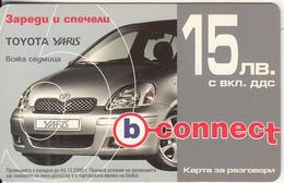 BULGARIA - Toyota Yaris, B Connect Prepaid Card 15 Leva, Exp.date 08/06/08, Used - Bulgaria