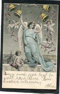 CPA - Illustration - Anges  (dos Non Divisé) - Angels