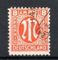 Allemagne Bizone /  8 Pf Orange  / Oblitéré - Bizone