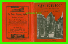 BOOK -  CARREL'S ILLUSTRATED GUIDE & MAP TO QUEBEC, 43 EDITION, 1935 - 212 PAGES - SHOWING ELECTRIC RAILWAY CIRCUIT  - Exploration/Travel