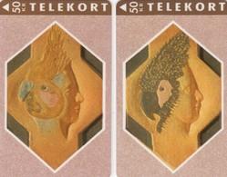 12049- N°. 2 TELEKORT 50KR - DANIMARCA - USATE - Denmark