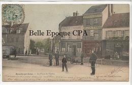 10 - ROMILLY-sur-SEINE - La Place De L'Église ++++ J. Thiebaut ++++ Vers Bergen, NORVÈGE, 1904 - Romilly-sur-Seine