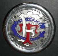 Rare Ancienne Plaque De Calandre émaillée Sur Les 2 Faces,  Automobilia, Touring Club De France TCF - Rallye (Rally) Plates
