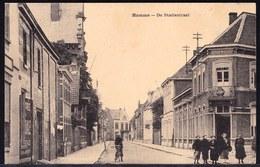 HAMME - DE STATIESTRAAT - Mooi Geanimeerde Kaart - Cafe Schouwburg - Hamme